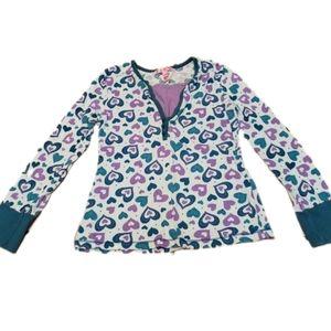 Girls  Fang Long Sleeve Hearts Shirt